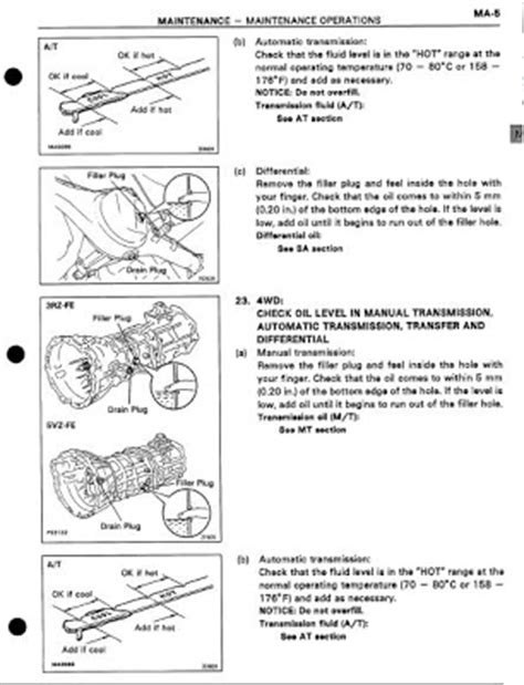 toyota tacoma 1996 repair manual toyota repair & workshop