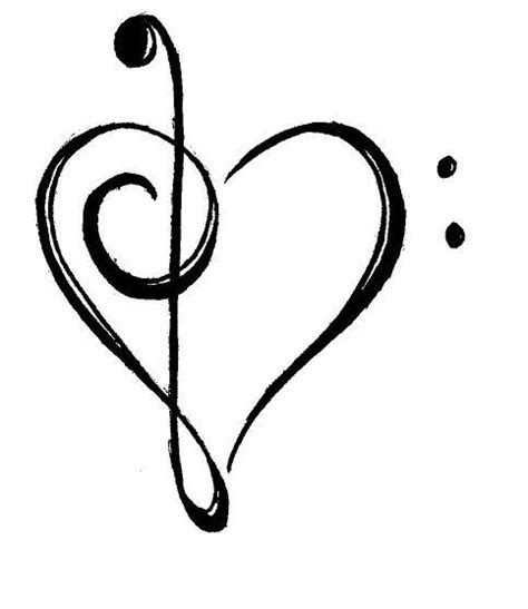 tattooed heart notes simple but good tattoo design art pinterest tattoo
