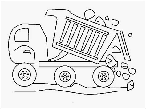 preschool coloring pages trucks construction vehicles dump truck coloring pages