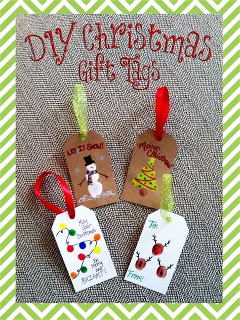 third grade christmas crafts diy reindeer diy fingerprint gift tags craft