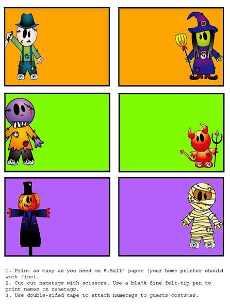 halloween nametags book graphics