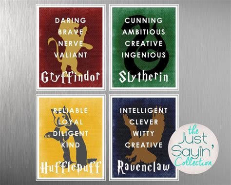 characteristics of harry potter houses harry potter hogwarts house typography traits of gryffindor