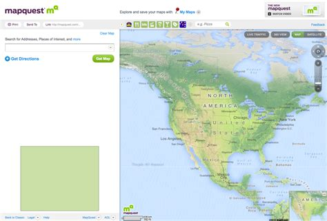 mapquest us meet the new and improved mapquest screenshots