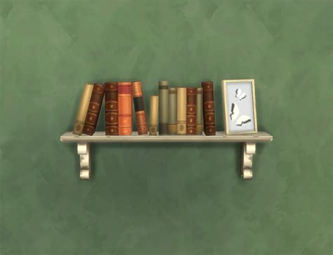 my sims 4 rustic wall bookshelf by plasticbox