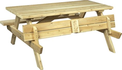 folding bench picnic table cedarlooks cedar wood picnic table bench with folding seats