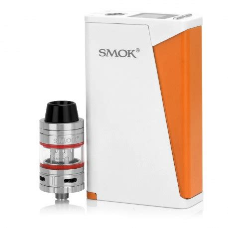 Smok H Priv 220w Tc Kit With Micro Tfv4 Atomizer authentic smoktech smok h priv box mod micro tfv4 white orange kit