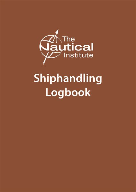 ship handling the nautical institute launches the shiphandling logbook