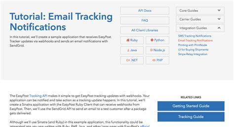 tutorial html email new tutorial email tracking notifications easypost