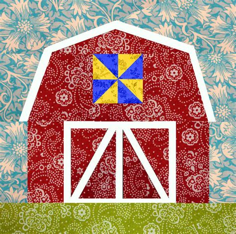 printable barn quilt patterns barn paper pieced quilt block pattern pdf by bubblestitch