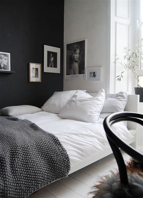 Small Bedroom Designs Black And White Comment Utiliser Le Noir Sur Les Murs Visitedeco