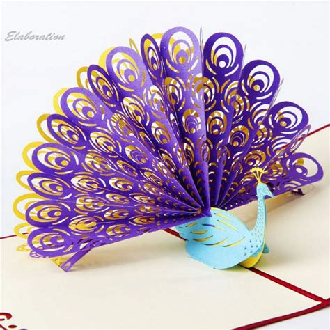 Origami Carriage - diy peacock 3d baby carriage origami paper cards