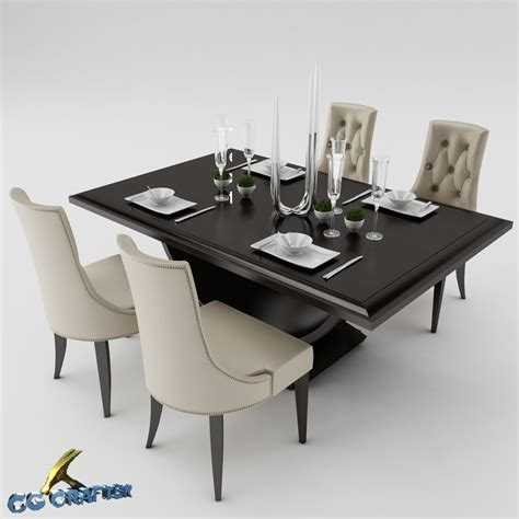 3d dining table dining table set 3d model max obj 3ds fbx cgtrader