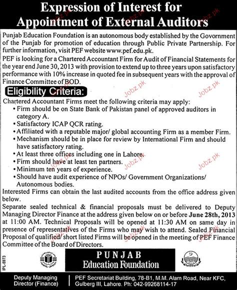 external auditors opportunity 2017 pakistan jobz pk