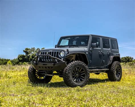 modified 4 door jeep wrangler 1c4bjwdg2gl226291 custom offroad 2016 black jeep