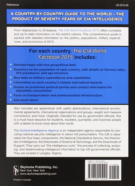 The Cia World Factbook 2014 the cia central intelligence agency world