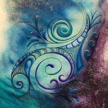abstract wallpaper nz kiwi reina cottier art