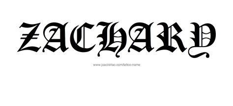 tattoo of name zach magazine tatoo share tattoo ideas for the name zachary