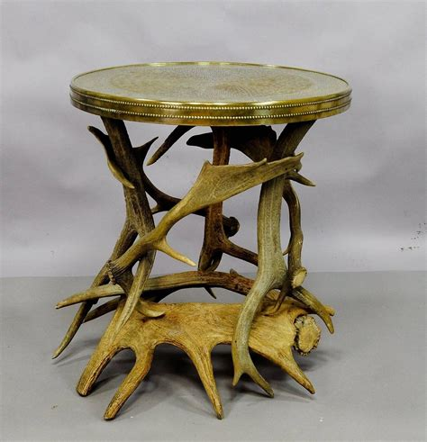 Antler Table by Log Cabin Antler Side Table For Sale At 1stdibs