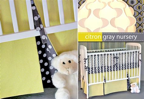 How Much Fabric For A Crib Skirt by Michael Miller Fabrics Citron Gray Nursery Pleated Crib
