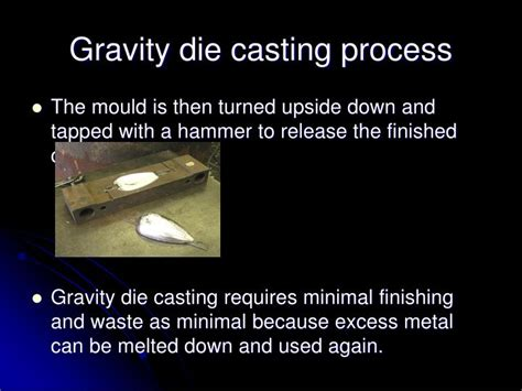 pattern making in casting process ppt ppt die casting powerpoint presentation id 6675720