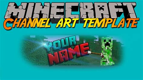 minecraft channel art template free photoshop cs6