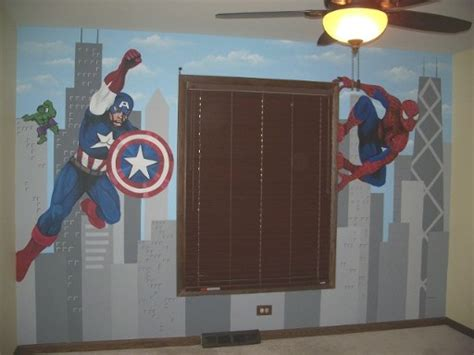 Dekorasi Kamar Anak Poster Komik Captamerica mendekor kamar anak dengan tema rumah dan gaya hidup rumah