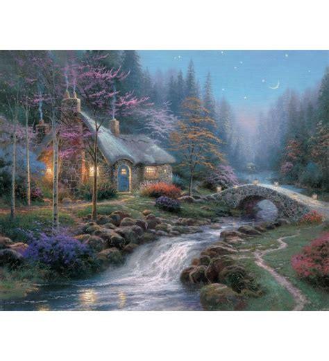 kinkade twilight cottage kinkade twilight cottage prints