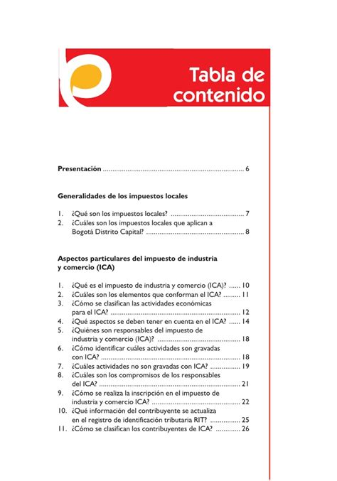 tabla de porcentajes ica cartilla ica bogot 225