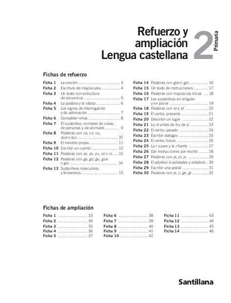 refuerzo y liaci 243 n lengua repaso y liacion 6 primaria santillana lengua repaso y liacion 6 primaria santillana