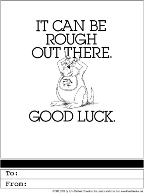 printable card good luck good luck printable greeting card