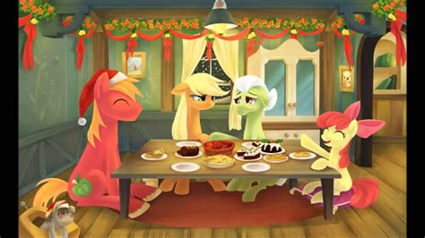 pony friendship  magic merry christmas  happy  year special slideshow youtube