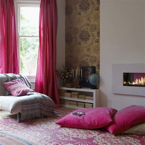 pink living room curtains pink living room living room idea curtains