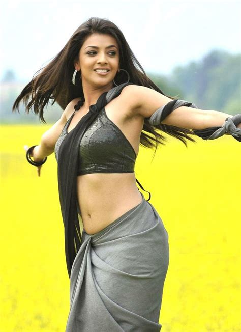actress kajal in bad dress in saree breast south indian actress kajal aggarwal hot photos and