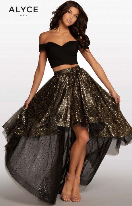 alyce paris kp  piece high  gown prom dress
