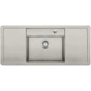 Blanco alaros 6s silgranite single bowl double drainer sink sink pearl