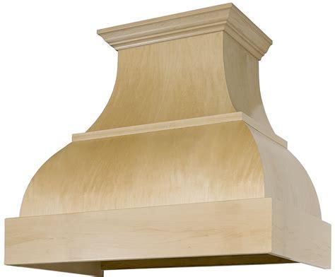 Maple Curved Style B Series Standard Wood Range Hood