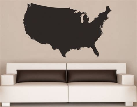 map usa vinyl united states of america usa map vinyl wall decal 6027