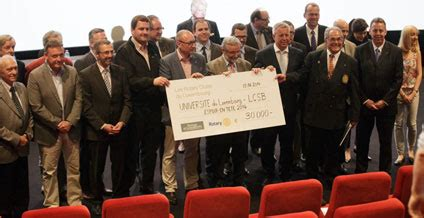 Lu Rotary Luxembourg Rotary Clubs Present Generous Donation To Lcsb