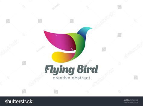 Flying Bird Abstract Logo Design Vector Stock Vector Bird Design Templates