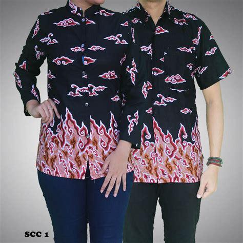 Satu Set Batik Pekalongan Printing Kipas Hitam batik sarimbit mega mendung kode scc 1 batik prasetyo