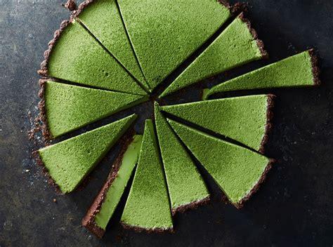 Choco Crust Matcha By Qlfrozenfood matcha coconut custard tart with chocolate crust food