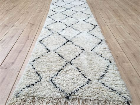 Moroccan Runner Rug East Unique Moroccan Rug Beni Ourain Berber Rug Runner 360x79cm B 077