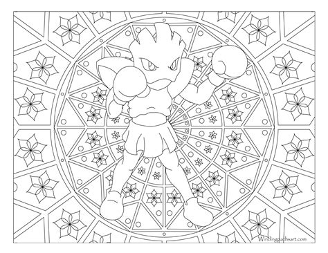 pokemon coloring pages hitmonchan 107 hitmonchan pokemon coloring page 183 windingpathsart com