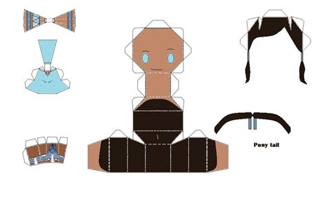 Avatar Papercraft - korra the avatar chibi papercraft by thestickfigureking on