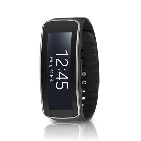 samsung galaxy gear fit sm r350 smartwatch fitness tracker black ebay