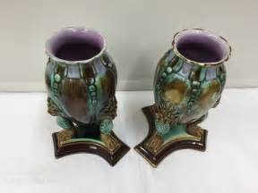 Majolica Vases Antiques by Antiques Atlas Antique Majolica Pottery Mask Vases