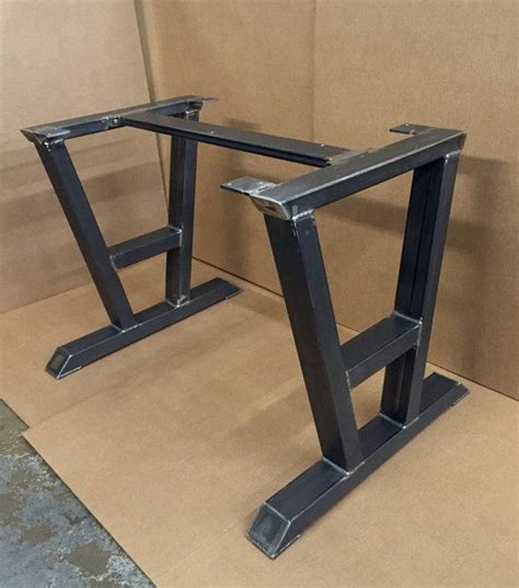 Metal Kitchen Table Legs by Turned A Shaped Modern Steel Base Design By