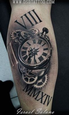 tattoo 3d reloj relojes media manga primer sesi 243 n by blonde tattoo