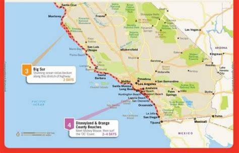 road map of pacific coast usa maps of the pacific coast highway free downloadable