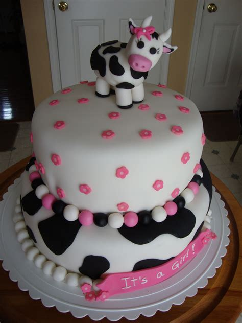 Cow Themed Baby Shower by Cow Baby Shower Cake If I Etc Married And